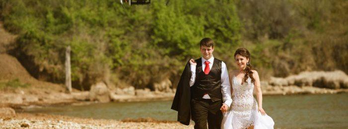 Съемка свадьбы с воздуха
