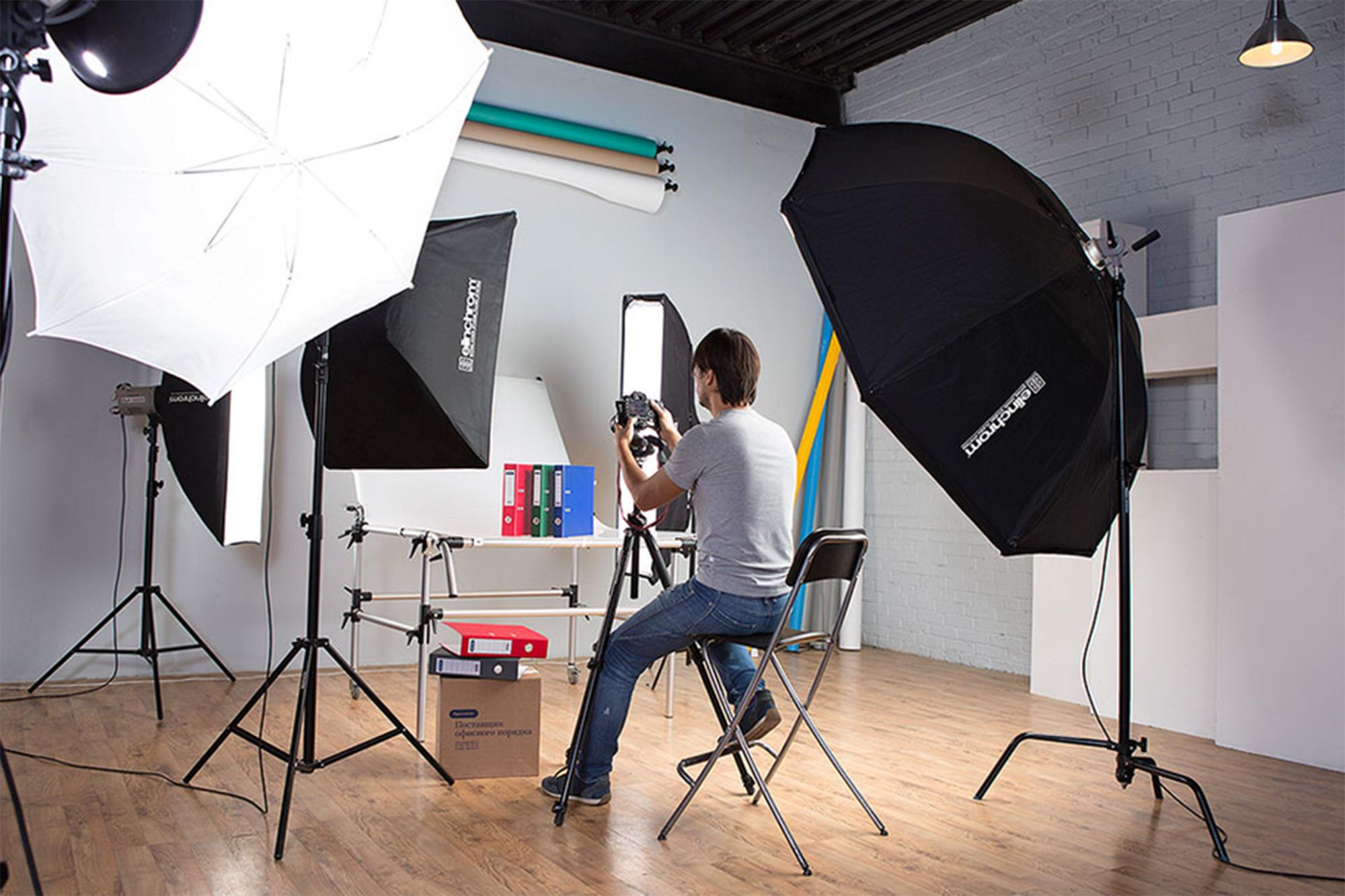 приспособление на фотоаппарат в студии пошагово очередность